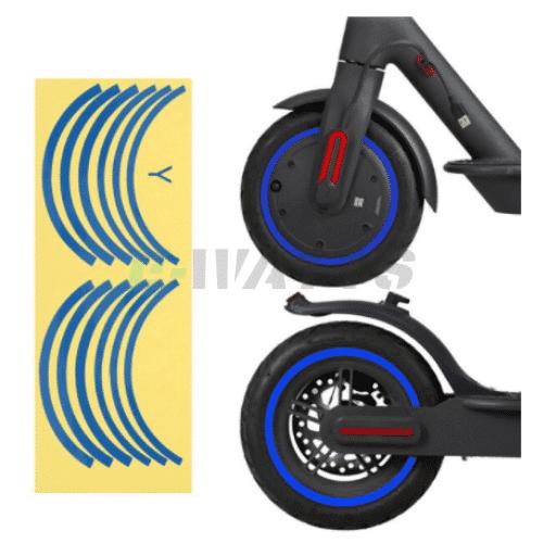 Stickers réfléchissants roues bleu Xiaomi m365, Pro, Pro 2