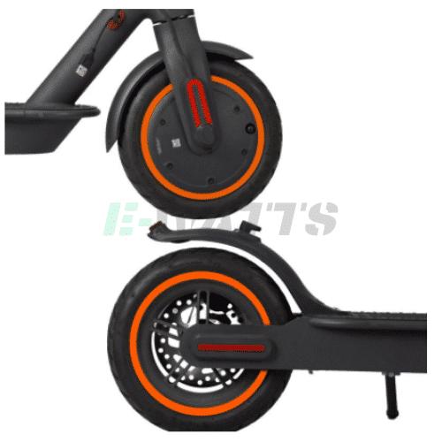 Stickers réfléchissants roues orange Xiaomi m365, Pro, Pro 2