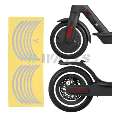 Stickers réfléchissants roues blanc Xiaomi m365, Pro, Pro 2